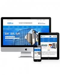 营销型大气机械设备类企业网站织梦模板(带手机端)