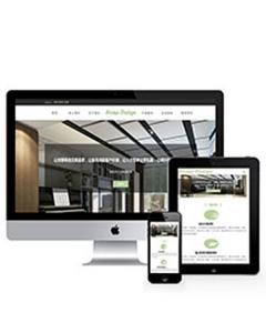 响应式厂房园林设计类网站织梦模板(自适应手机端)